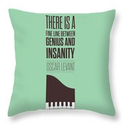 Oscar Levant Inspirational Typography Quotes Poster Throw Pillow by Lab No 4 - The Quotography Department