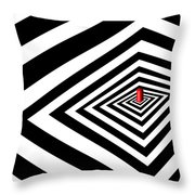 A Round Peg In A Square Hole Throw Pillow