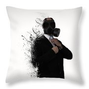 Dissolution Of Man Throw Pillow