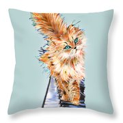Cat Orange Throw Pillow