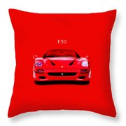 The Ferrari F50 Throw Pillow by Mark Rogan