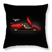 The Lamborghini Countach Throw Pillow by Mark Rogan