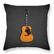 Gibson Hummingbird 1968 Throw Pillow