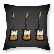 Fender Esquire 59 Throw Pillow by Mark Rogan