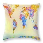 Abstract Earth Map 2 Throw Pillow by Bob Orsillo
