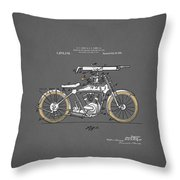 Motorcycle Patent 1918 Throw Pillow