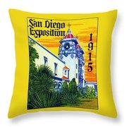 1915 San Diego Exposition Throw Pillow