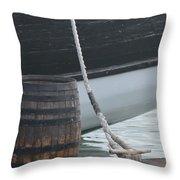 Barrel And Ship Throw Pillow