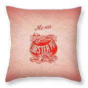 The Lobster Pot 1960s Throw Pillow