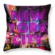 New York City - Color Throw Pillow