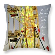 Wheel Of Fortune With Phrase Throw Pillow