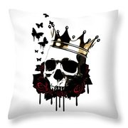 El Rey De La Muerte Throw Pillow