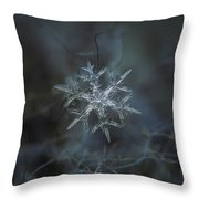 Snowflake Photo - Rigel Throw Pillow