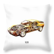 Porsche 928 1980 Throw Pillow