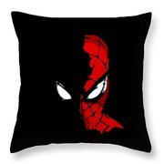 Spidey In The Shadows Throw Pillow