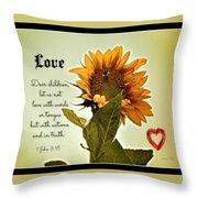 Bee Mine - Verse Throw Pillow