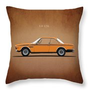 Bmw Csl 1972 Throw Pillow
