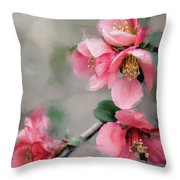 Red Quince Throw Pillow