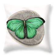 Mito Awareness Butterfly- A Symbol Of Hope Throw Pillow