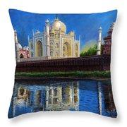 The Taj Mahal Shrine Of Beauty Throw Pillow
