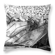Cold And Broken Throw Pillow