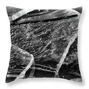 Broken But Beautiful Throw Pillow