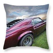 Rich Cherry - '69 Mustang Throw Pillow
