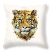 Tiger // Strength Throw Pillow by Amy Hamilton