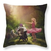 Dances In The Summer Throw Pillow