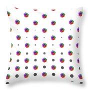 Rainbow Rose 01 Throw Pillow