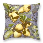 Lemons Purple Pastel Throw Pillow