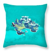 Neverland Watercolor Throw Pillow