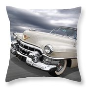 Cream Of The Crop - '53 Cadillac Throw Pillow