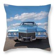 Seventies Superstar - '71 Cadillac Throw Pillow
