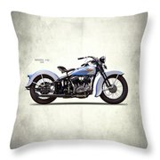Harley Model Vd 1935 Throw Pillow