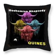 Moohemian Rhapsody Throw Pillow