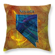 Nevada Map Throw Pillow