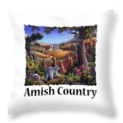 Amish Country - Coon Gap Holler Country Farm Landscape Throw Pillow