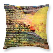 Art Of Fire Throw Pillow