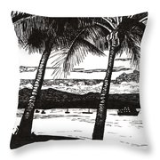 Late Afternoon At Dunk Island Throw Pillow
