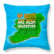 Irish Roots Typographical Art Throw Pillow