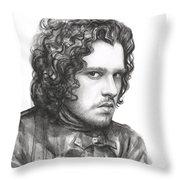 Jon Snow Game Of Thrones Throw Pillow