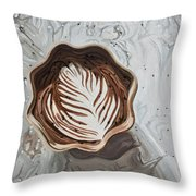 Morning Mocha Throw Pillow