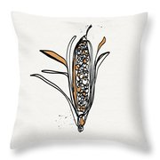 corn- contemporary art by Linda Woods Throw Pillow