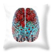Heart Art - Think Love - By Sharon Cummings Throw Pillow