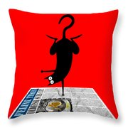 Yoga Mat Throw Pillow by Andrew Hitchen