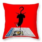 Yoga Mat Throw Pillow