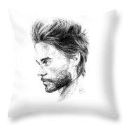 Jared Leto Throw Pillow