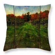 Into The Apple Orchard Throw Pillow