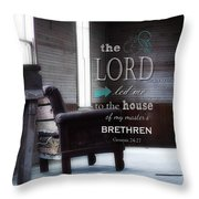 Visitor - Verse Throw Pillow